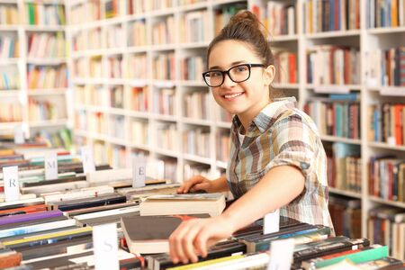 pleasure of reading: Students in the school library.