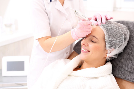 Mesotherapie Microneedle Stockfoto