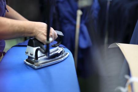 presser: Ironing steam. Presser in sewing clothes pressed.