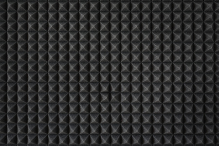 Acoustic foam. Dark gray foam silencer