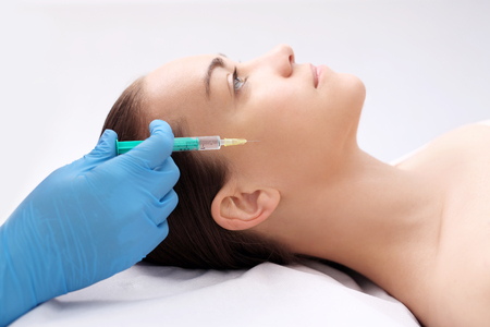 Facial facial aesthetic medicine Cosmetic has been injected the face of the woman, the treatment of aesthetic medicine