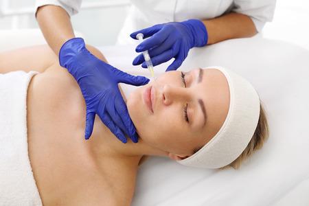 Vampire facelift. Plasma injection. A rejuvenating treatment. Stock fotó