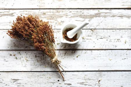 St. Johns wort. Natural medicine, herbal medicine. Herbery