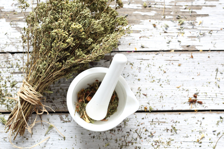 Oregano. Dried herbs in natural medicine and cooking Reklamní fotografie