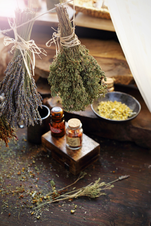 Herbal medicine and natural medicine. Traditional herbal remedies. Reklamní fotografie