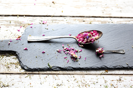 Dried flower petals. A natural, natural healing mix, health straight from nature.