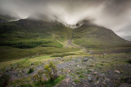 The valley and mountains of Glencoe, Scotland