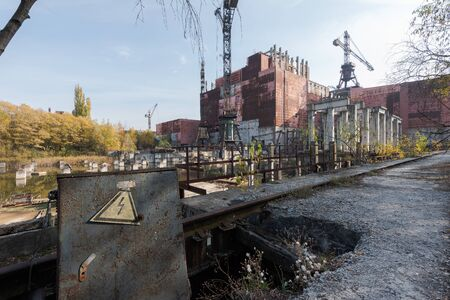 Abandoned construction site of block 5 and 6 of the Chernobyl nuclear power plant 写真素材