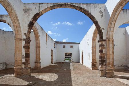 Fuerteventura - ruins of the former Franciscan monastery Convento de San Buenaventura in Betancuria.