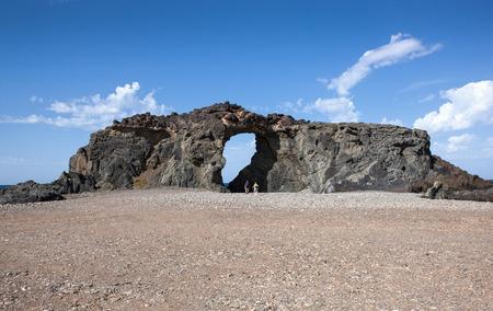 rock arch: Giant Rock arch Pena Horadada north of Ajuy, Fuerteventura, Canary Islands, Spain.