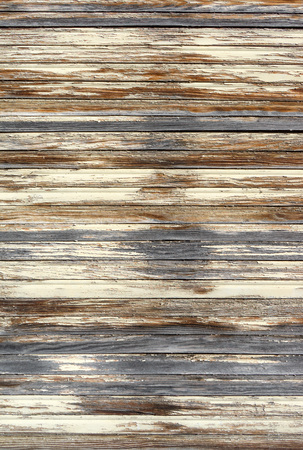wood pattern: Close-up of a closed, 'strongly weathered wooden blinds Stock Photo