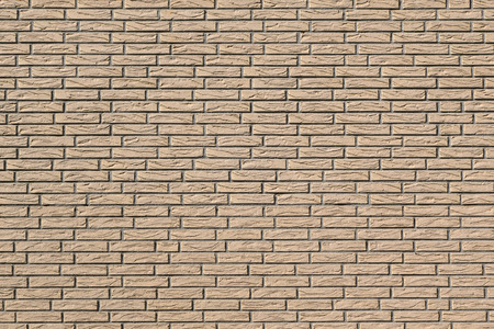 wall covering: Detail of a facade with beige wall covering in stone look of narrow, elongated tiles Stock Photo