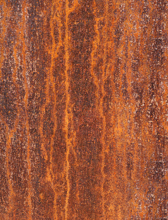 vertical format: Detail of a rusty metal surface with an abstract, vertical pattern in vertical format Stock Photo