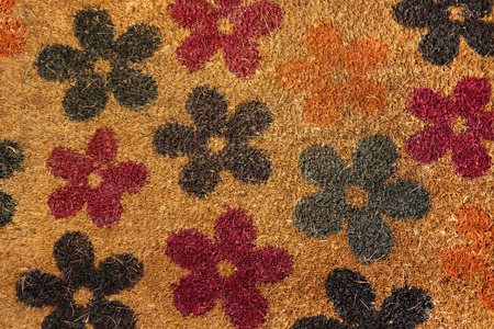 Floral pattern of a coconut matting