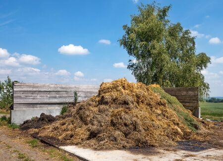 heap: Dung heap Stock Photo