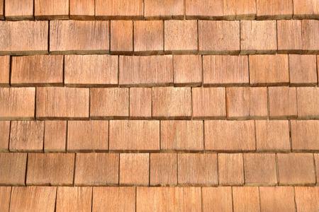 shingles: Tejas marrones Foto de archivo