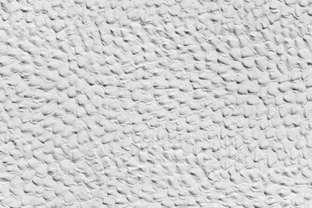 plasterwork: White plasterwork with Humpy surface
