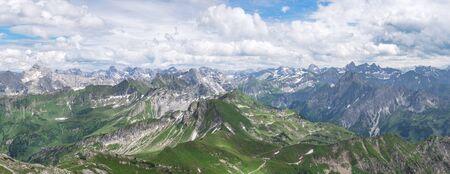 allgau: Mountain panorama - View at the Allgau Alps