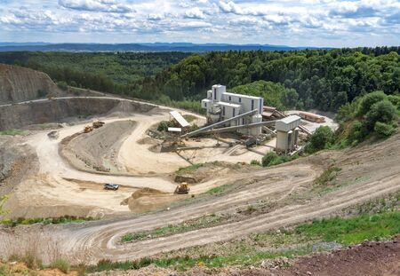 mining truck: Quarry from above