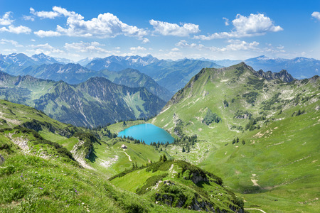 allgau: Lake in the Allgau Alps Seealpsee