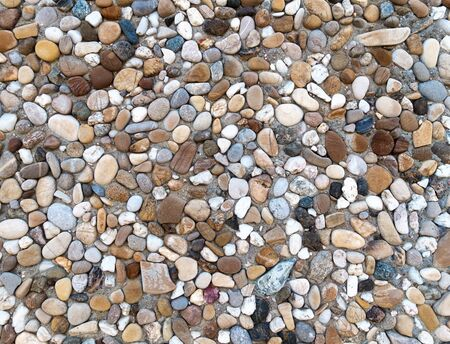 aggregate: Colorful Exposed aggregate concrete