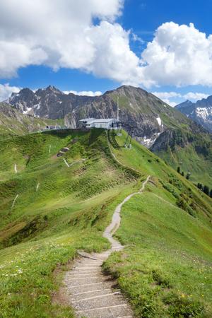 allgau: Hiking trail to the Kanzelwandbahn in the Allgau Alps