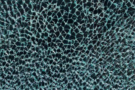 safety glass: Cracked safety glass