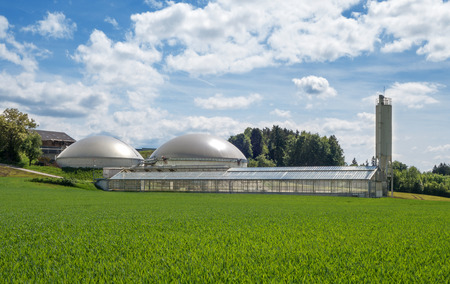 anaerobic: Biogas plant and sewage sludge drying