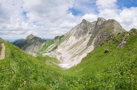 allgau: Mountain landscape in the Allgau Alps Stock Photo