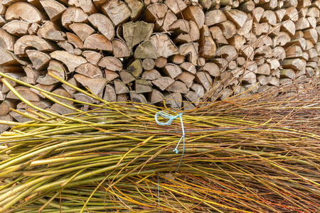 bunched: Brushwood and firewood Stock Photo