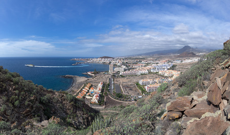 Los Cristianos, Tenerife with departing ferry