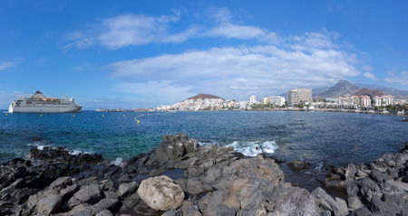 Los Cristianos, Tenerife, with arriving ferry