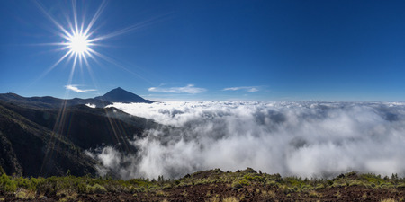Mystical sea of clouds at the Teide, Tenerife