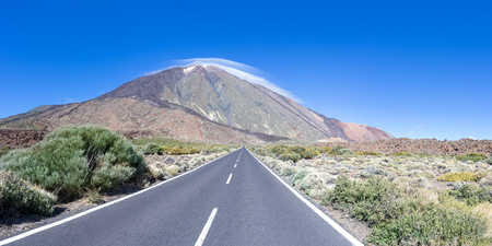 Road to Teide in the national park of Tenerife