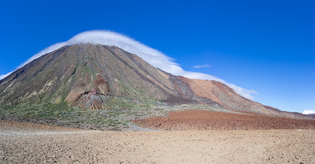 Teide and Montana Blanca in the national park of Tenerife