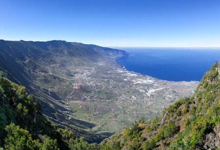 View of the El Golfo valley on the island El Hierro Stock Photo