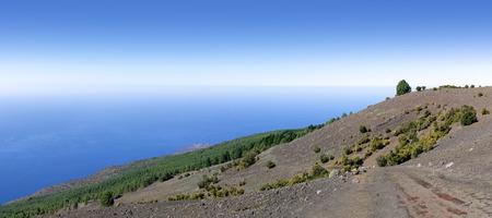 El Hierro - View from the western Camino de la Virgen over the hillside of El Julan