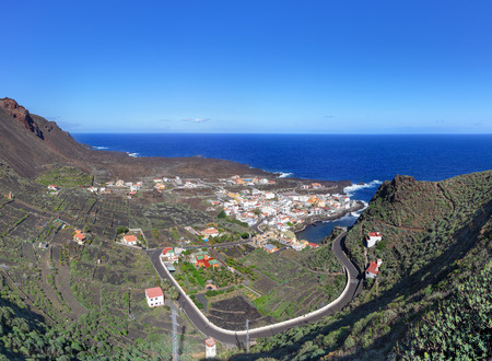 El Hierro, Canary Islands - View at the village Tamaduste Stock Photo