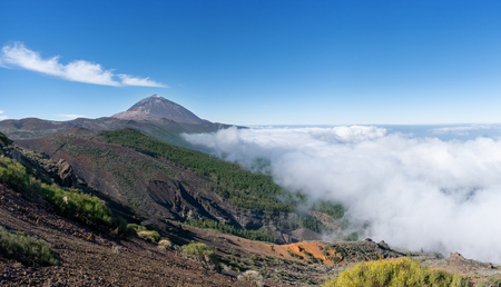 Above the clouds in the national park of Tenerife with Teide