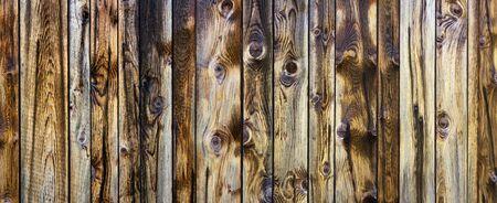 Rustic quaint wooden wall - panoramic Stockfoto