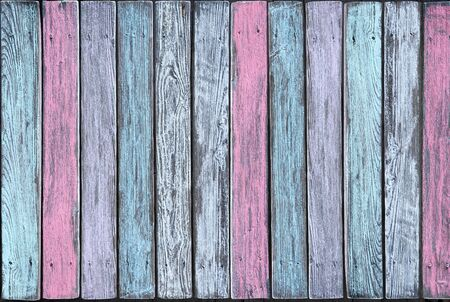 Vertical boards in different pastel shades
