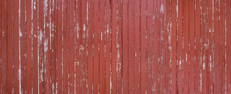 Weathered red brown wooden wall panorama Archivio Fotografico - 130136019