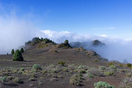 Rising clouds at the Malpaso on the island of El Hierro
