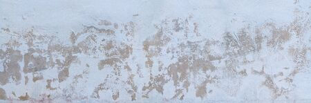 Wall texture panorama with weathered plaster