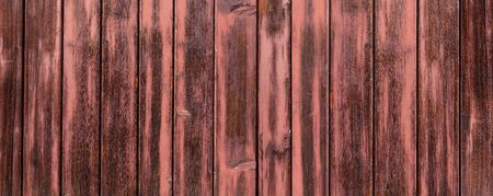 Panorama of a red brown wooden wall Archivio Fotografico - 130135956