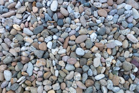 Area with small colored pebbles