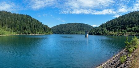 Panorama of the Kleine Kinzig Dam in the Black Forest, Germany Reklamní fotografie