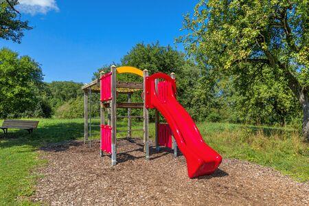 Climbing frame for children with slide Stock fotó