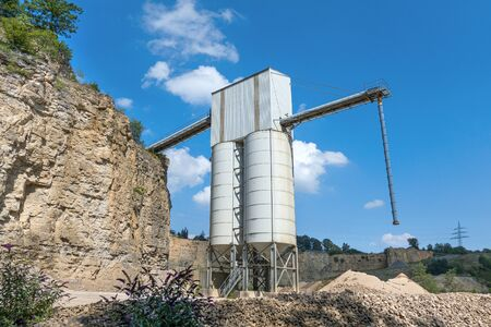 Industrial plant of a gravel plant in a quarry Stock fotó - 130135722