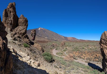 National park Tenerife - View from Roques de Garcia to Teide